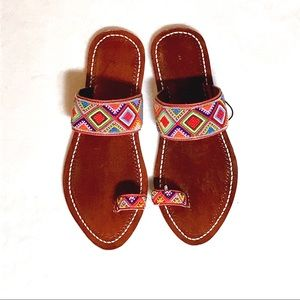 fb8a5db08 Free People Shoes - FREE PEOPLE SANTORINI BEADED SANDALS